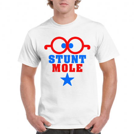 Stunt Mole Hey Duggee White Adult T Shirt